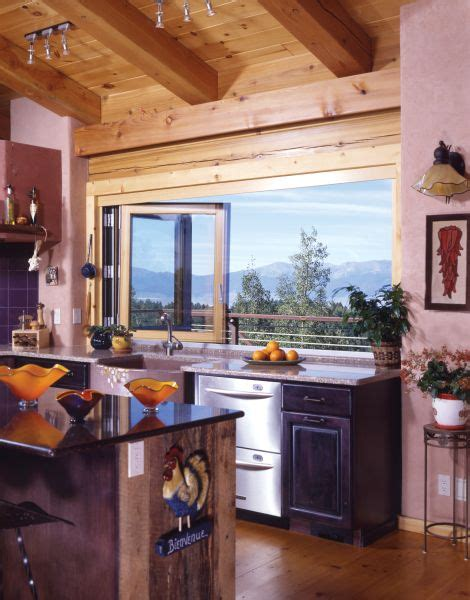 glass in kitchen cabinets rustic kitchen with large windows holy cow we need to 3783