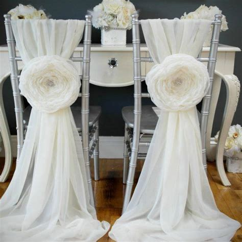diy wedding chair sashes   wedding easy tutorial