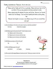 free reading comprehensions reading comprehension 39 s trip to the zoo comprehension reading comprehension and
