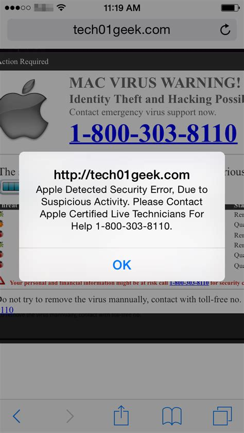 iphone message detected on iphone is it legit here s the mac users beware of increased tech support scam pop ups