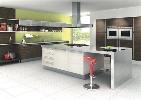 cuisine blanche et verte cuisine design blanche verte et bois