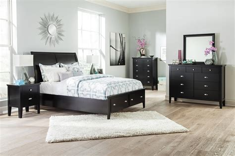 braflin contemporary black pc bedroom set wking storage