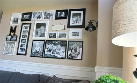 Helpful Hints For Displaying Family Photos On Your Walls 2 Person Home Office Desk Theater Packages Chairs Wall Decor Movie Black Carpet Contemporary Desks For