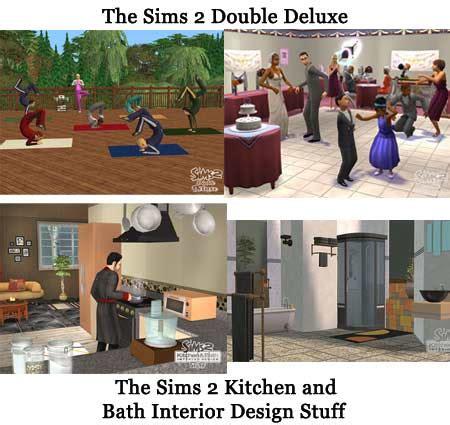 sims  double deluxe kitchen  bath interior design