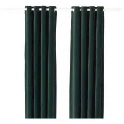 sanela curtains 1 pair dark green 140x250 cm ikea