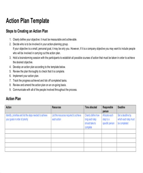 Commitment Action Document Template by Strategic Life Plan Template 5 Free Word Pdf Documents