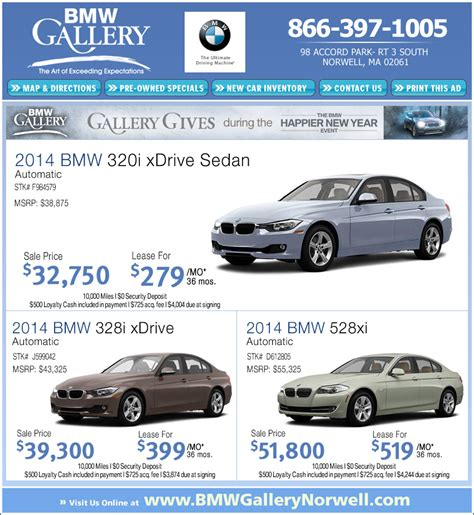 Bmw Gallery Norwell by Bmw Lease Deals Bmw Gallery In Norwell