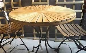 Table Bois Et Fer : stunning table de jardin bois et fer pictures amazing ~ Premium-room.com Idées de Décoration