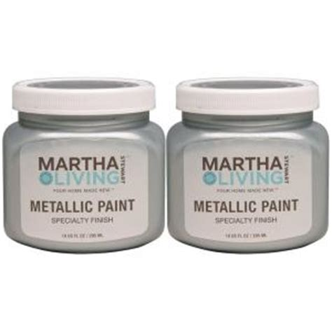 martha stewart living 10 oz metallic polished silver