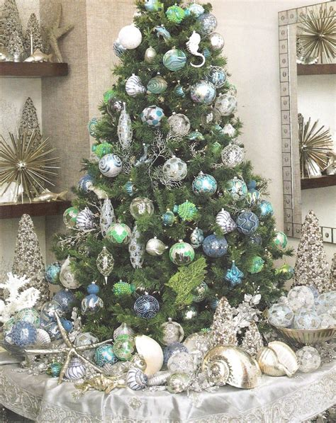 ocean inspired christmas tree look for me by the crystal
