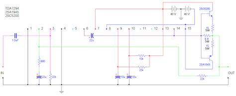 simple 400watt lifier using tda7294 or tda7293 power transistors 2sc5200 and 2sa1943
