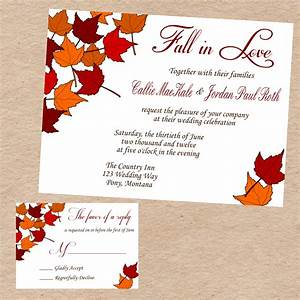 stunning fall wedding invitations printable wedding With free printable autumn wedding invitations