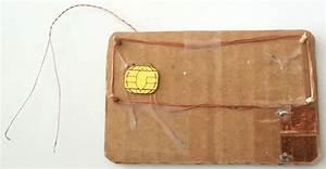 Prototype 3  Dual Interface Smartcard Chip On Cardboard