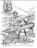 Coloring Gold Rush Pages Colouring Barkerville Mining Billy Books Printable Barker Panning Cowboys Sheets Miner Yumpu Klondike Box sketch template