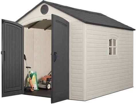 lifetime 10x8 sentinel shed lifetime sentinel 8x10 plastic storage shed w floor 6405