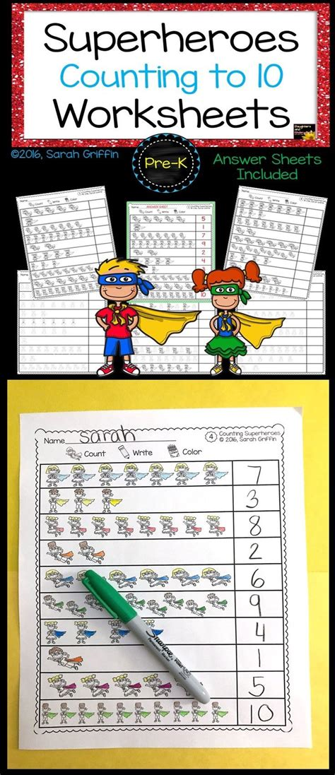 numbers to 10 count color write math worksheets k 2 math resources math