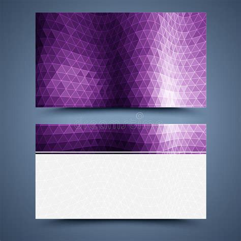 business card template abstract background stock vector