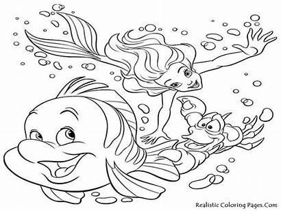 Coloring Ocean Sea Pages Printable Under Animal