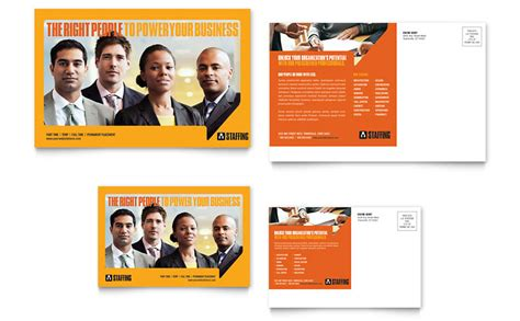 staffing recruitment agency postcard template word