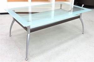 Table Basse Hauteur 60 Cm : table basse plateau en verre partiellement sable et ~ Dailycaller-alerts.com Idées de Décoration