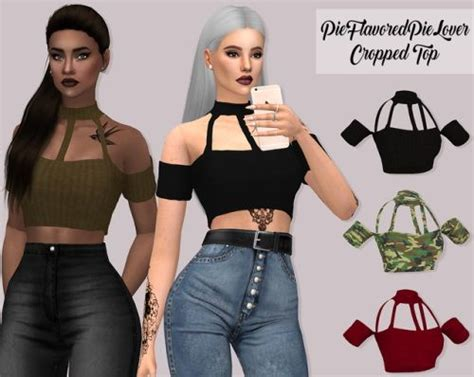 lumysims cropped top sims  downloads sims  clothing