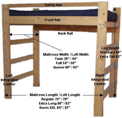 loft bed plans diy bed plans diy blueprints