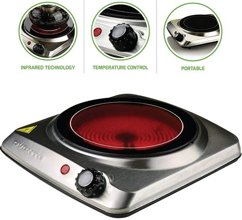 electric plate portable cooking stove burner cooktop infrared countertop