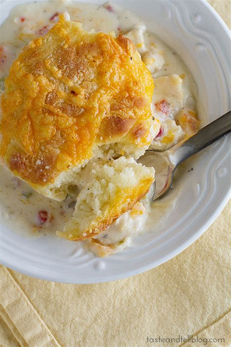 chicken and biscuit recipe creamy chicken and biscuits taste and tell