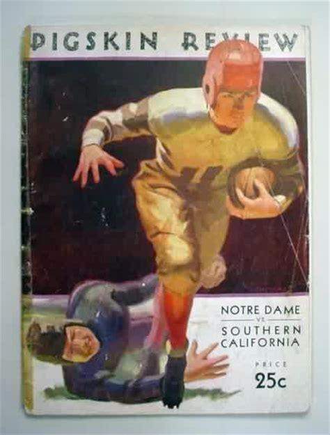vintage college football program  sale  gasoline