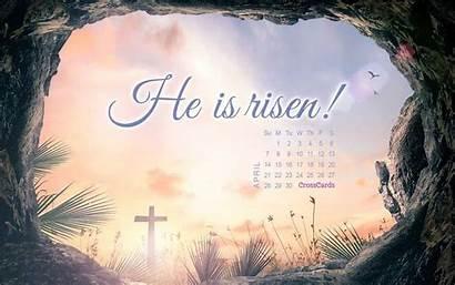 April Risen Calendars He Wallpapers Desktop Easter