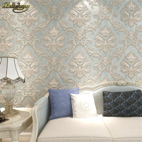 beibehang  damask wall paper bedroom living photo mural