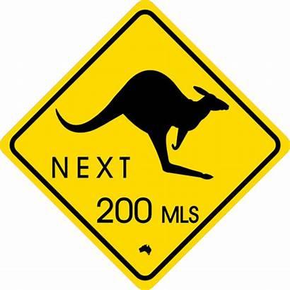 Traffic Sign Kangaroo Clip Signs Clipart Cliparts
