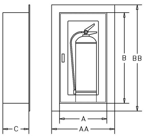Recessed Extinguisher Cabinet Dimensions by Find A Product Part