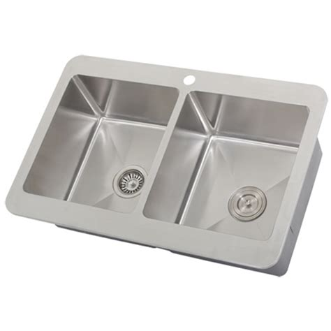 Overmount Kitchen Sink by Ticor Tr1800 Overmount Stainless Steel Bowl Kitchen