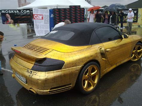 gold porsche truck 10 luxurious gold plated cars