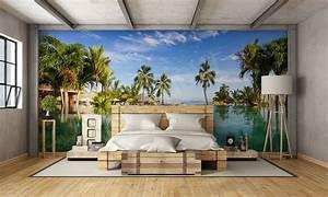 Papier Peint Chambre À Coucher : quel papier peint original pour une chambre coucher de fille ~ Nature-et-papiers.com Idées de Décoration