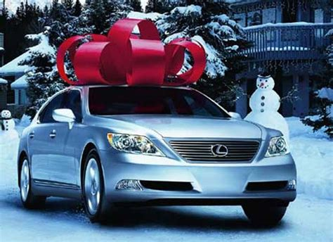 lexus christmas buying a luxury vehicle must be december
