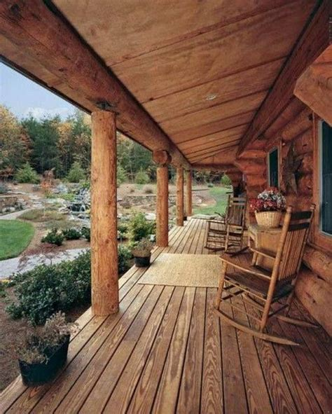 beautiful large rustic cabin porch   rustic log home decorating cabin porches