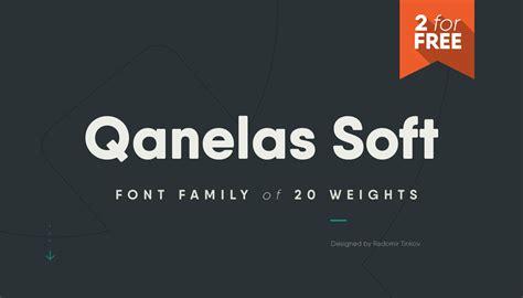 qanelas soft 3 free font weights befonts com