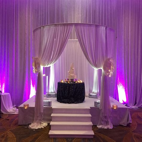 Wedding Pipe And Drape - circular wedding ceremony pipe and drape cabana and