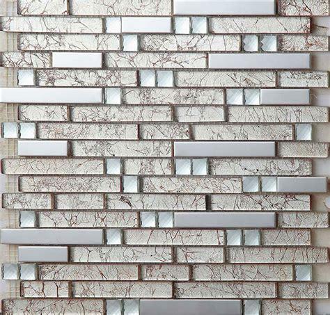Stainless steel tiles kitchen backsplash diamond crystal