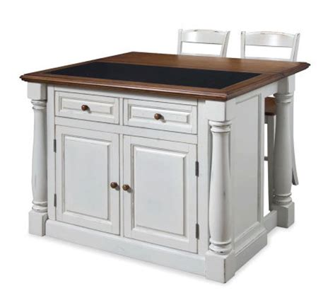 Home Styles Monarch Kitchen Island W Granite Top & Two