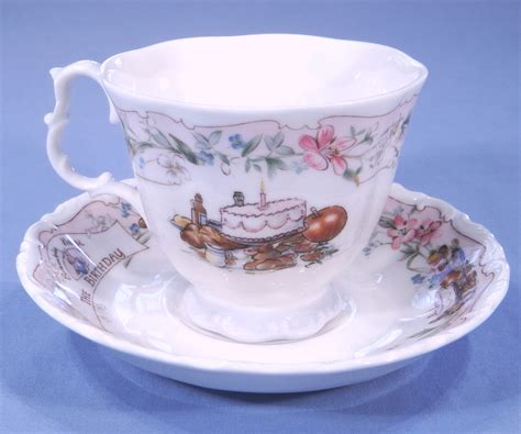 royal doulton brambly hedge bone china tea cup saucer  birthday sold collectable china