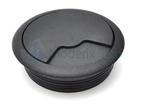 desk cord hole cover 80mm black pc computer desk plastic grommet table cable