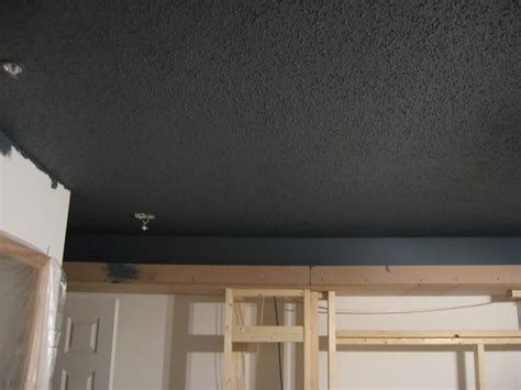 painted dark popcorn ceiling oliver s room popcorn
