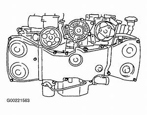 1998 Subaru Legacy Serpentine Belt Routing And Timing Belt Diagrams