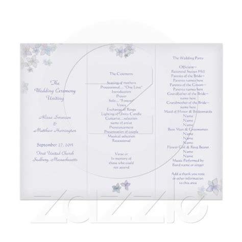 lavender art tri fold wedding program template zazzle