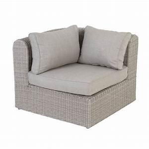 fauteuil d39angle de jardin libertad sable gris clair With fauteuil angle