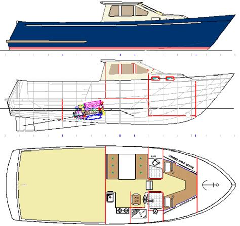 Steel Work Boat Plans by E12 Cw Gif 26477 Bytes