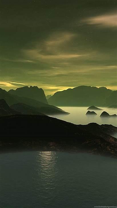 4k Ultra Wallpapers Desktop Lake Clouds Mountains